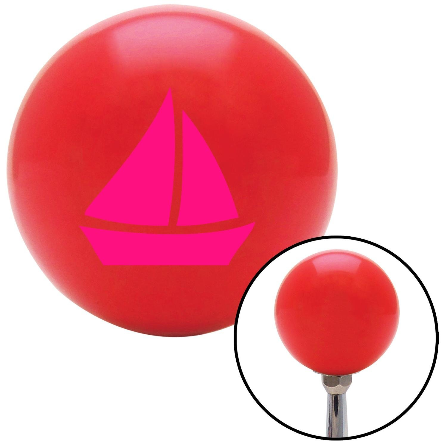 American Shifter 95983 Red Shift Knob with M16 x 1.5 Insert Pink Sail Boat 2