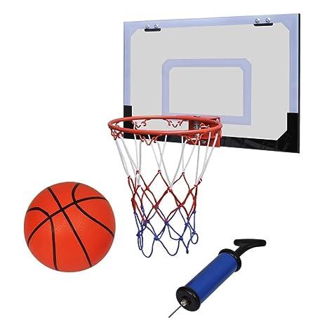 Mini cesta Basket Ball con balón y bomba filete de color: azul + ...