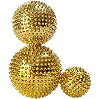 D DOLITY 3 stuks magnetische acupressuurballen - goud