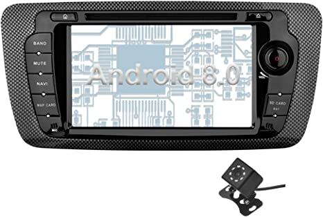 Android 8.0 Car Stereo GPS DAB+DVR WiFi OBD2 Canbus CD 4G Radio BT SD SEAT IBIZA