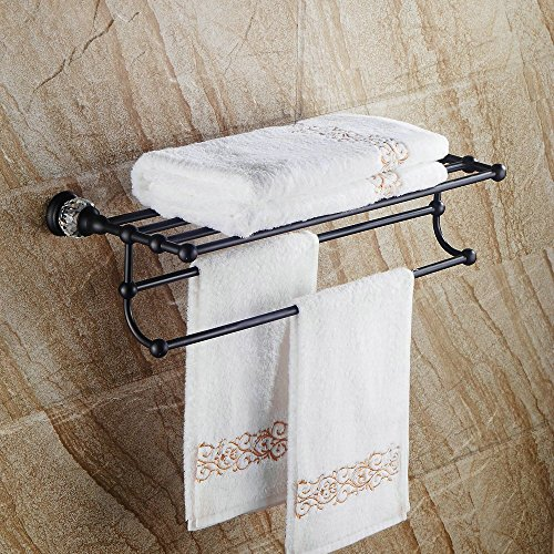 delicate Hiendure Contemporary Wall Mount Brass Bath Towel Rack ...