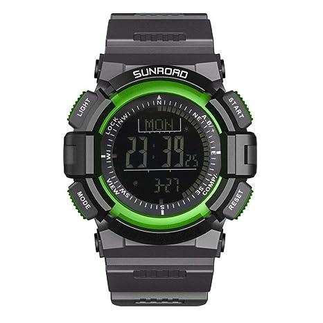 LoveOlvidoE SUNROAD Hombres de Moda Relojes Deportivos Resistente al Agua Compás Digital Barómetro Altímetro Reloj de