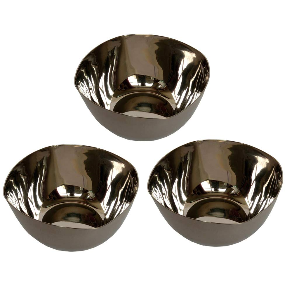 Shradha Trading Heavy Duty Stainless Steel 3-Piece Mixing Bowls, Stainless Steel Bowl Set of 3, Steel Bowl Set