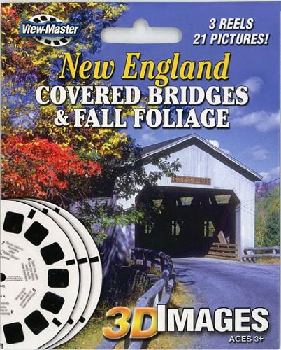 ViewMaster 3Reel Set - New England Covered Bridges & Fall Foliage - 21 3D Images