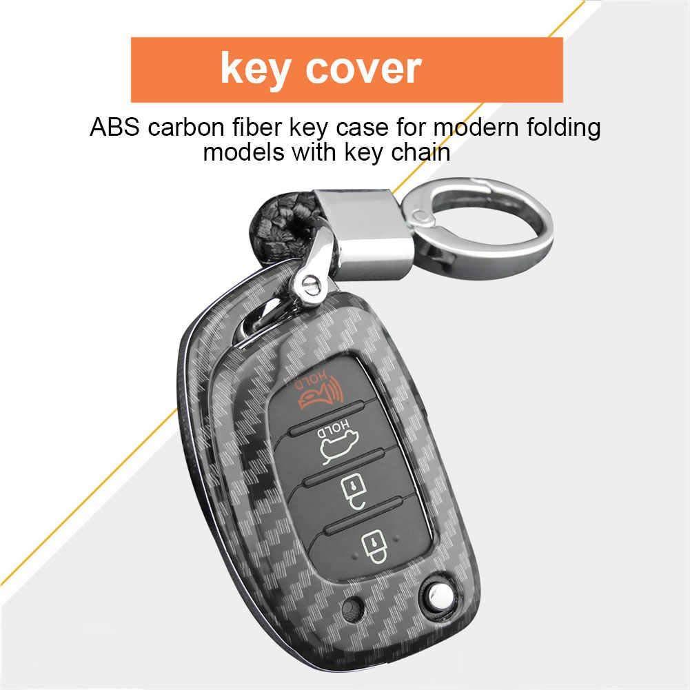 Easy-topbuy Cl/é De Voiture Coque Remote Key Case De Remplacement Compatible avec Hyundai Sonata 2015-2019 Tucson Elantra Porte-Monnaie Voiture Smart Keychain Porte-cl/és /À Distance Automatique
