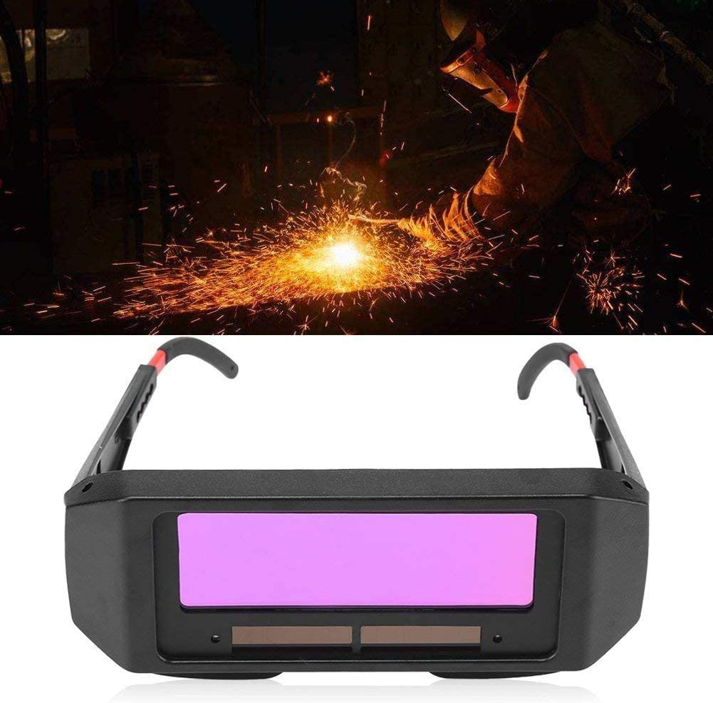 Auto Darkening Welding Helmet Mask Anti Infrared Radiation Welding Goggles Eye Protection Anti Ultraviolet Protective Tool for Gas Steel Welding Cutting Solar Auto Darkening Welding Goggles