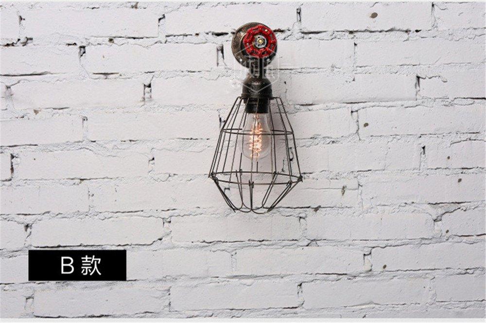 JJZHG Wandleuchte Wandlampe Wasserdicht Wandbeleuchtung Retro Water Pipe Wandleuchte Cafe Bar Korridor Dekoration Wandleuchte Galerie Galerie Spotlight,B beinhaltet  Wandlampe