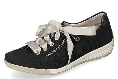 Dunkel Komfort Gr37 Damen Blau Low Sneaker Rieker WD2YEHI9