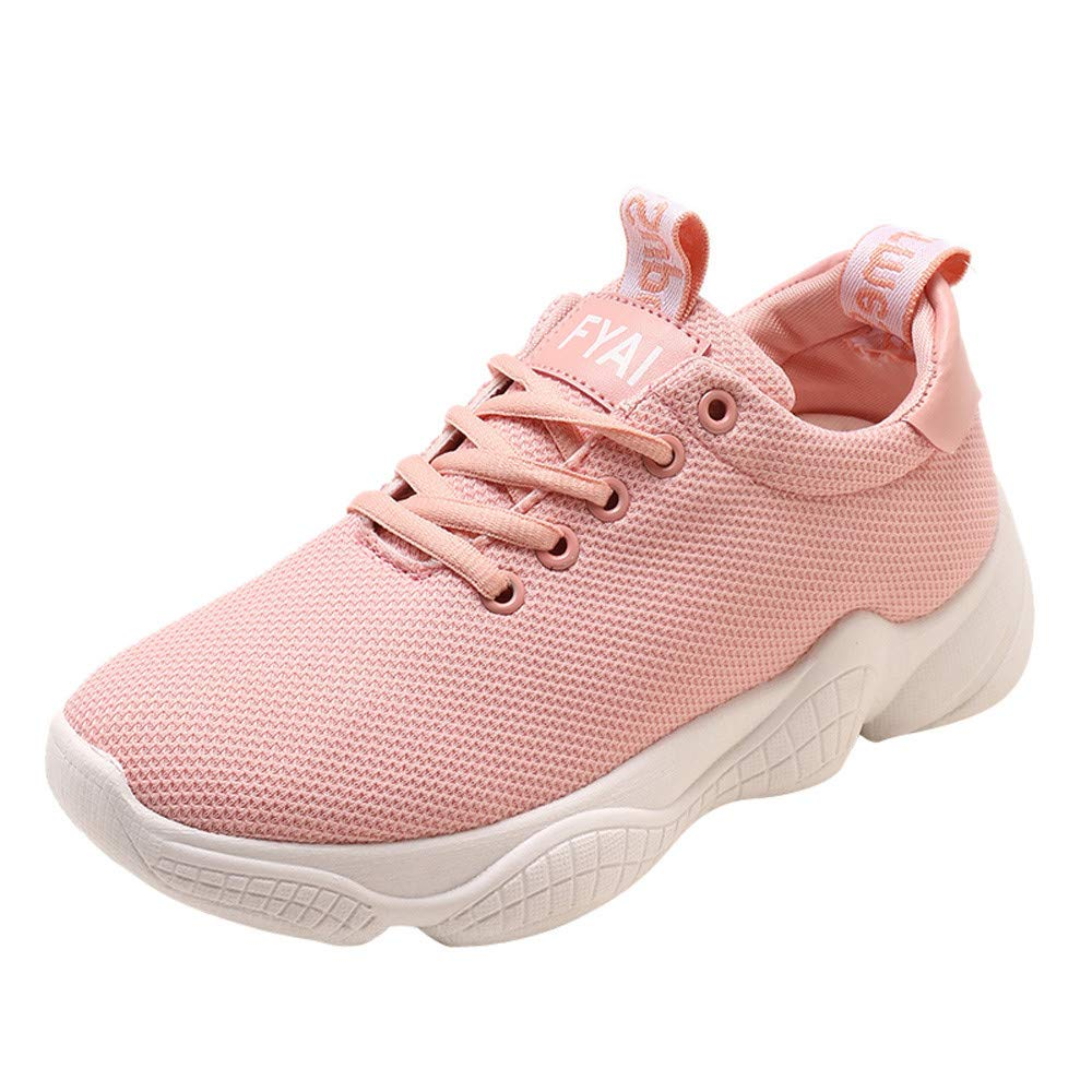 Chaussures de Sport, Casual Yesmile Mode Plate-Forme de Femmes Chaussures Casual Lace Up Semelles Confortables Plate-Forme Chaussures de Sport Rose eae2ab9 - reprogrammed.space
