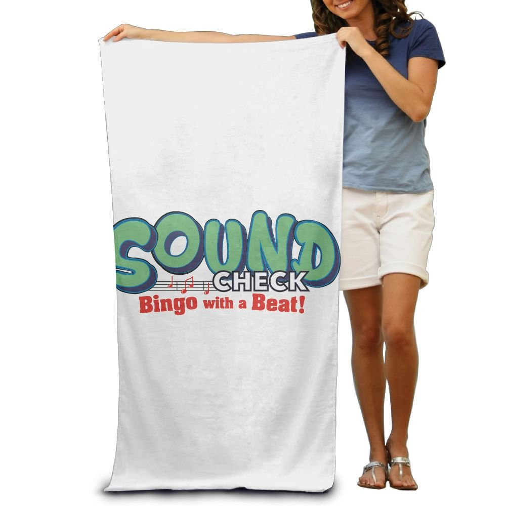 Super Absorbent Beach Towel Sound Check Bingo Polyester Velvet Beach Towels 31.551.2 Inch