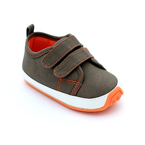 256a16cad319f Kuner Baby Boys Girls Cotton Rubber Sole Outdoor Sneaker First Walkers Shoes