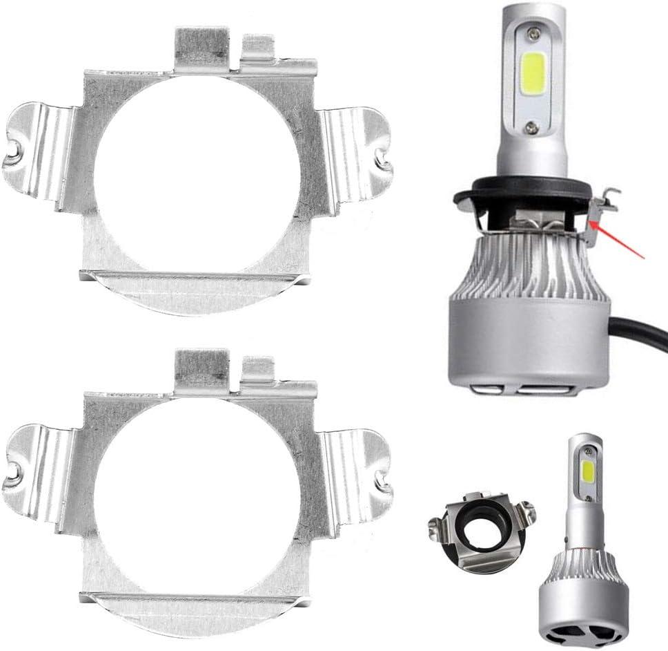 Class C Benz B Class ML Class Ford Edge Akozon H7 Headlight Pair of LED Headlight Bulbs Adapter Retainer Holder for Mercedes