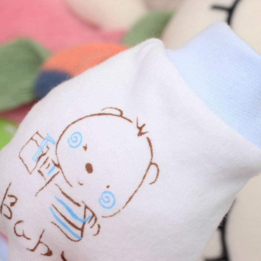 Ogquaton Bear Pattern Baby Gloves Infant No Scratch Mittens Cute Baby Anti Scratch Mittens Soft Newborn Gloves Gift Convenient and Practical