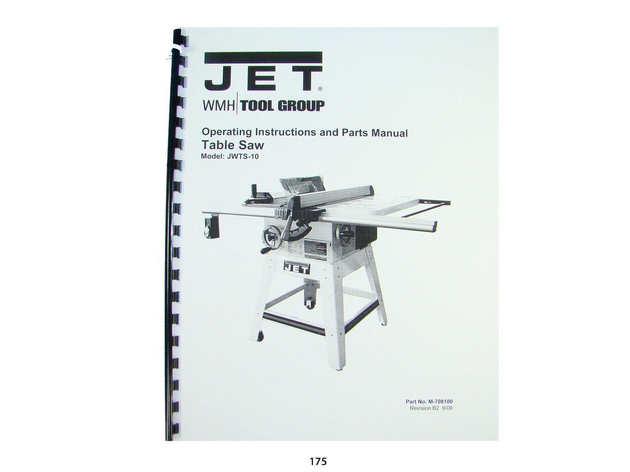 jet jwts 10 table saw operator instruction \u0026 parts manual6 sport jet installation