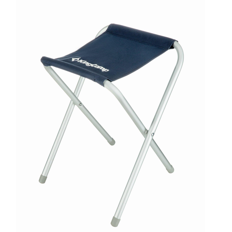 KingCamp Folding Camp Stoolポータブル軽量Small Fold椅子のアルミニウム合金スクエアキャンバスハイキング旅行釣り B00VJUYV28  NAVY BLUE