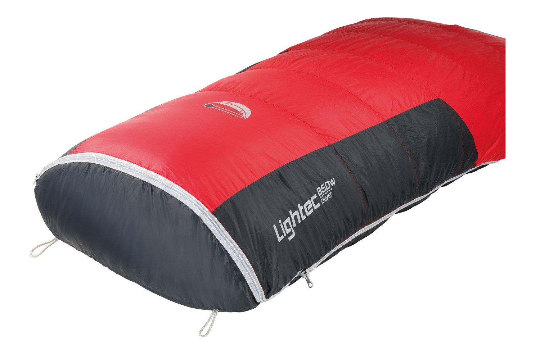 Ferrino SLEEPINGBAG LIGHTEC 850W Duvet Saco de Dormir Tiempo Libre y Senderismo Unisex Adulto, (Red/Grey), Talla Única: Amazon.es: Deportes y aire libre