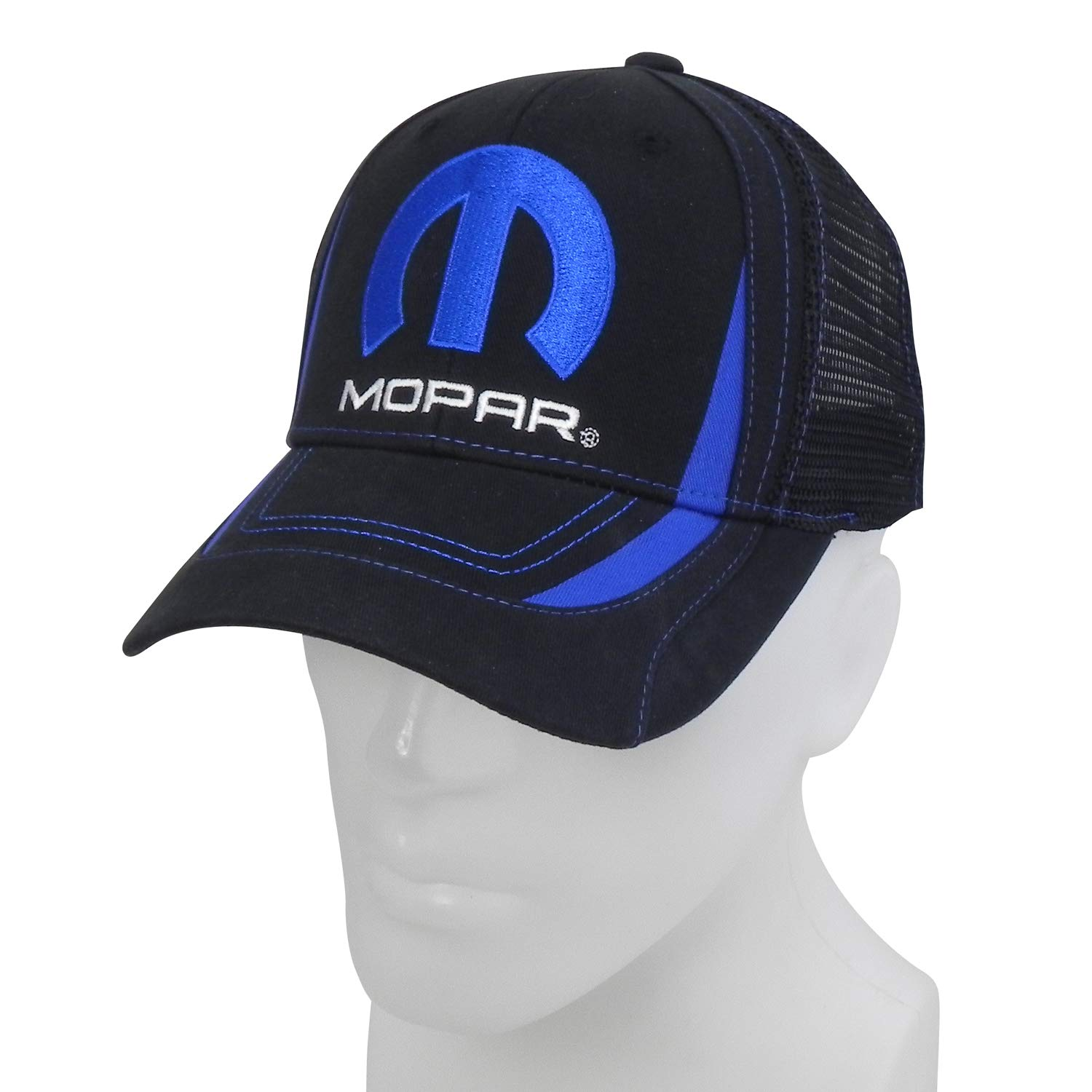 CarBeyondStore Mopar Black Sports Mesh Baseball Cap