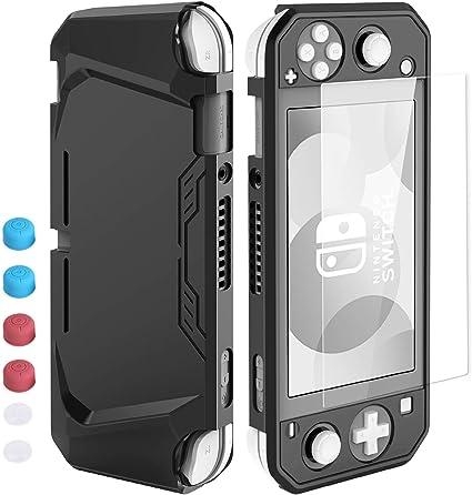 HEYSTOP Funda para Nintendo Switch Lite, Carcasa Switch Lite con Protector de Pantalla y 6 Agarres para el Pulgar ...