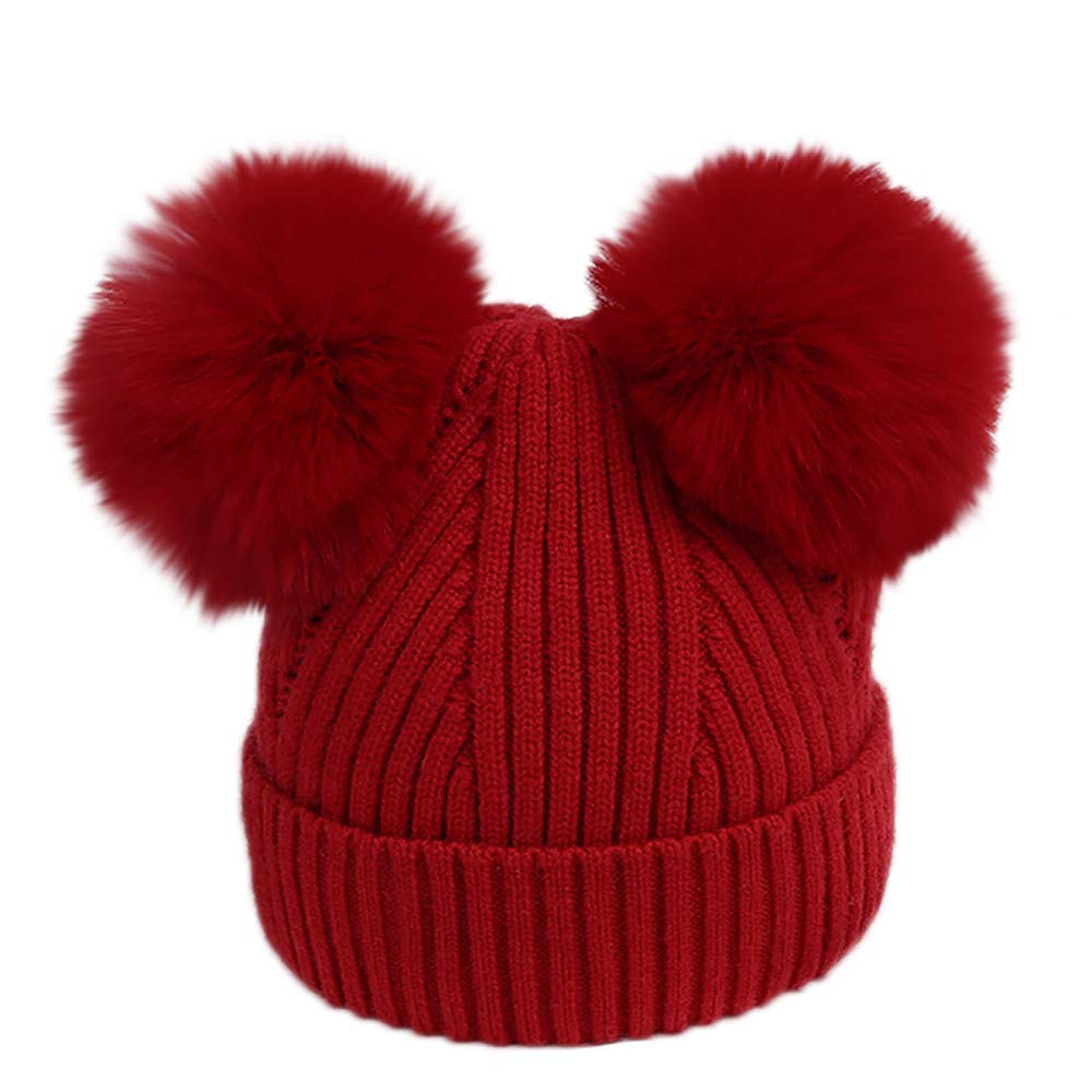 Xshuai Baby Hat for 3-18 Months Kids, Fashion Cute Toddler Baby Girl Boy Winter Warm Ball Hats Knitted Wool Headgear Children Hat Cap