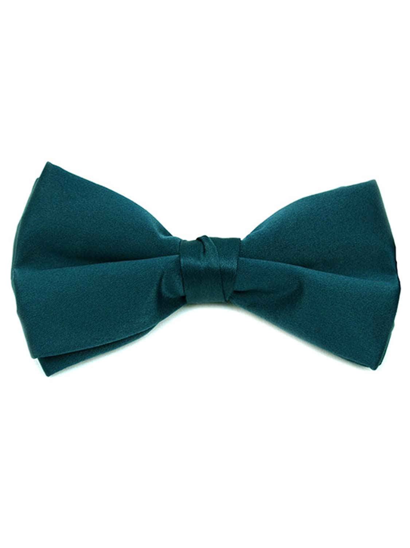 Men's Pre-tied Clip On Bow Tie - Formal Tuxedo Solid Color BTC1701-Black