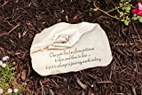 "Evergreen Garden Dog Paw in Hand Devotion Painted Polystone Stepping Stone – 12""W x 0.5""D x 7.5""H"