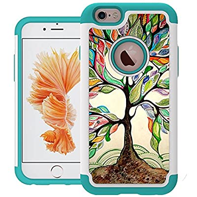 iPhone 6 Case, UrSpeedtekLive iPhone 6s Cases [Shock Absorption] Dual Layer Heavy Duty Protective Silicone Plastic Caver Case for iPhone 6/6s by Speedtek