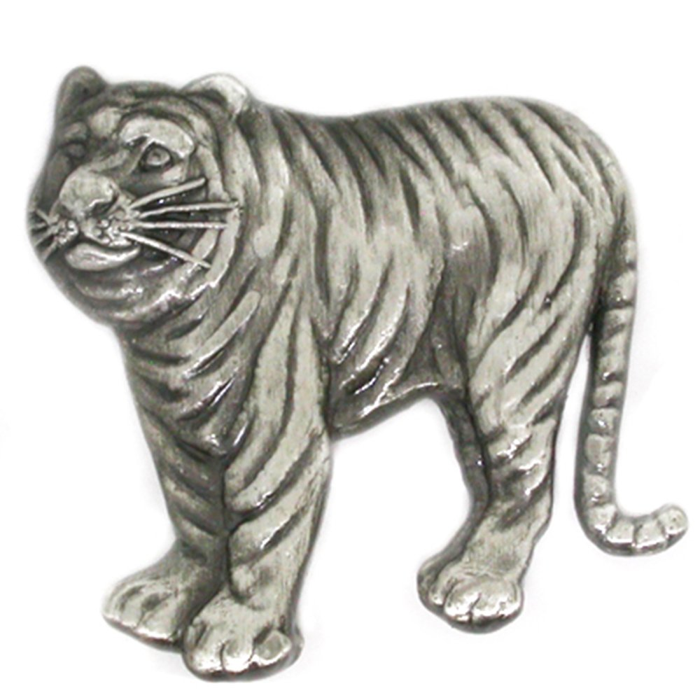 PinMart's Antique Silver Tiger Zoo Animal Lover Lapel Pin