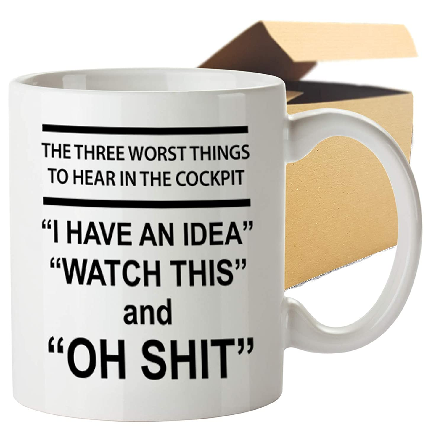 3 Washeramp; Printed Worst Ceramic Things In For Novelty Cups To Dish Mug11 Pilot A Safe Cockpit – Oz Hear Funny Coffee Gift Microwave W2Y9eDHEI