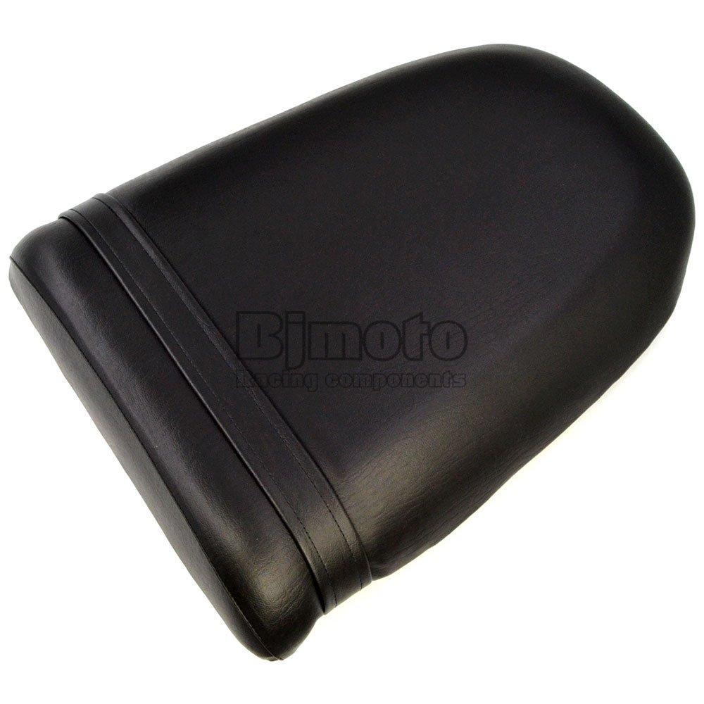 BJ Global Black Seat Cover For Suzuki GSXR 600 750 1000 K1 2000-2003 Seat Vintage Leather Motorcycle Rear Passenger Seat Cushion Pillion