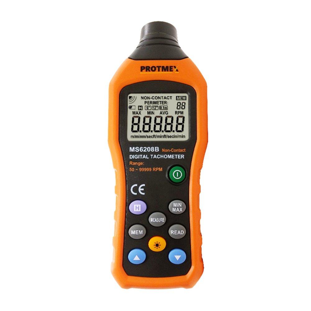 Protmex MS6208B タコメータ 回転計 速度計デジタル非接触型 回転速度測定計測機器
