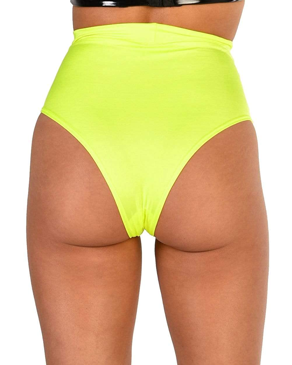 iHeartRaves Electro High Waisted Booty Shorts Slip Pin-Up Style Bikinihose