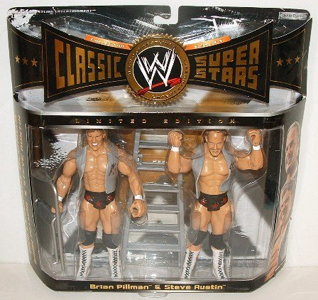 "WWE WWF Classic Superstars ""The Hollywood Blonds"" Flyin Brian Pillman and Stunning Stone Cold Steve Austin Wrestling Figures"
