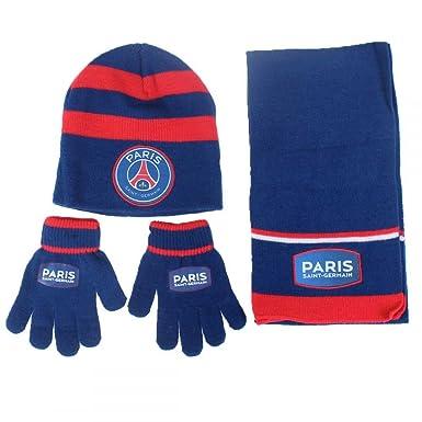 055f3b1fc887 PSG ensemble bonnet echarpe gant paris saint germain Neymar Article sous  licence officielle