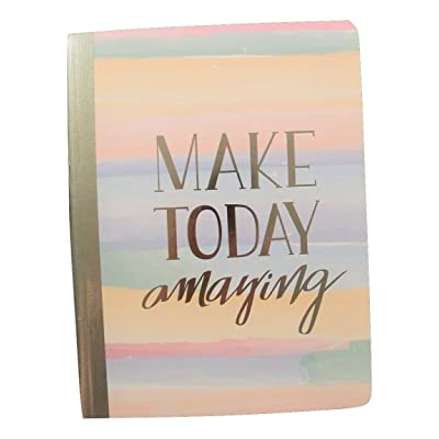 "Studio C Carolina Pad College Ruled Foil Cover Composition Book ~ Silver Lining (Make Today Amazing; 7.5"" x 9.75""; 100 Sheets, 200 Pages): Toys & Games"