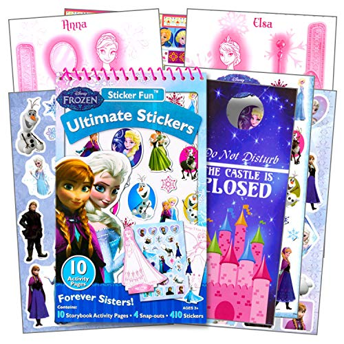 Disney Frozen Stickers Activity Set -- 400 Stickers, Activity Pages, Pop Out Characters and More (Frozen Party Supplies)]()