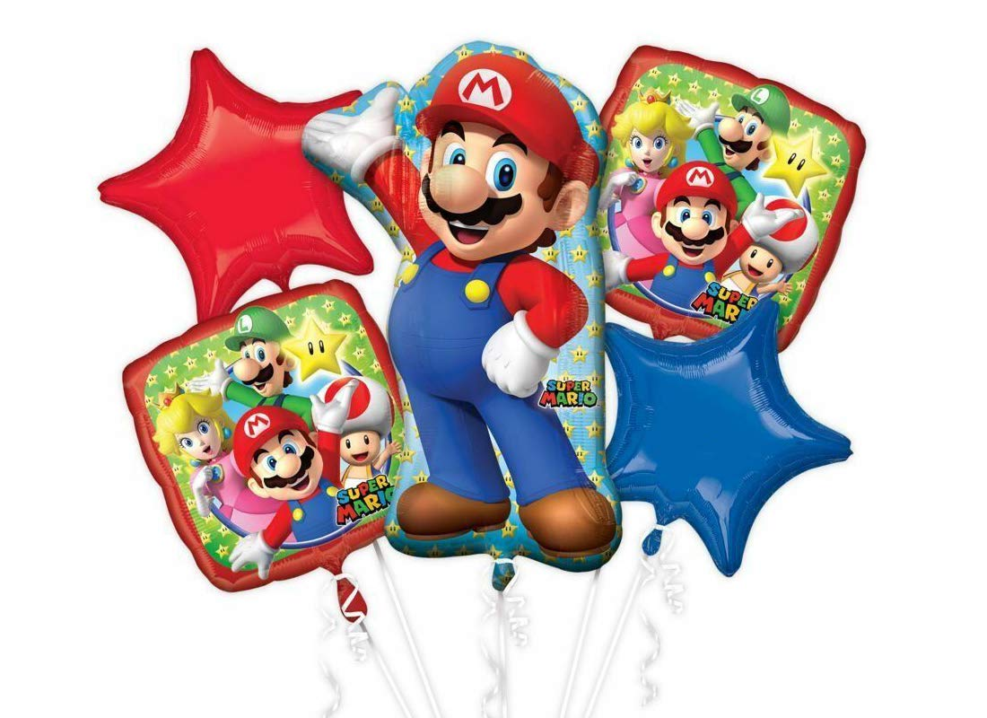 Irpot Foil Super Mario Globos Composición - Kit A