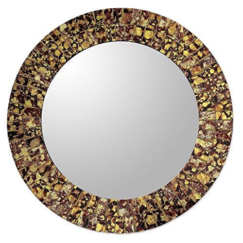 NOVICA MI0043 Golden Splash' Glass Mosaic - Mirrors Anthropologie Bathroom