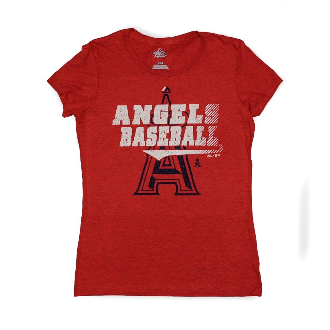 Los Angeles AngelsマジェスティックレッドTake Thatデュアルブレンドティーシャツ Large  B00K6V7MDG