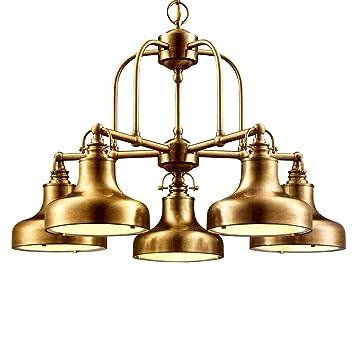 Chandelier Brass: Nautical 5-Light Chandelier Antique brass,Lighting
