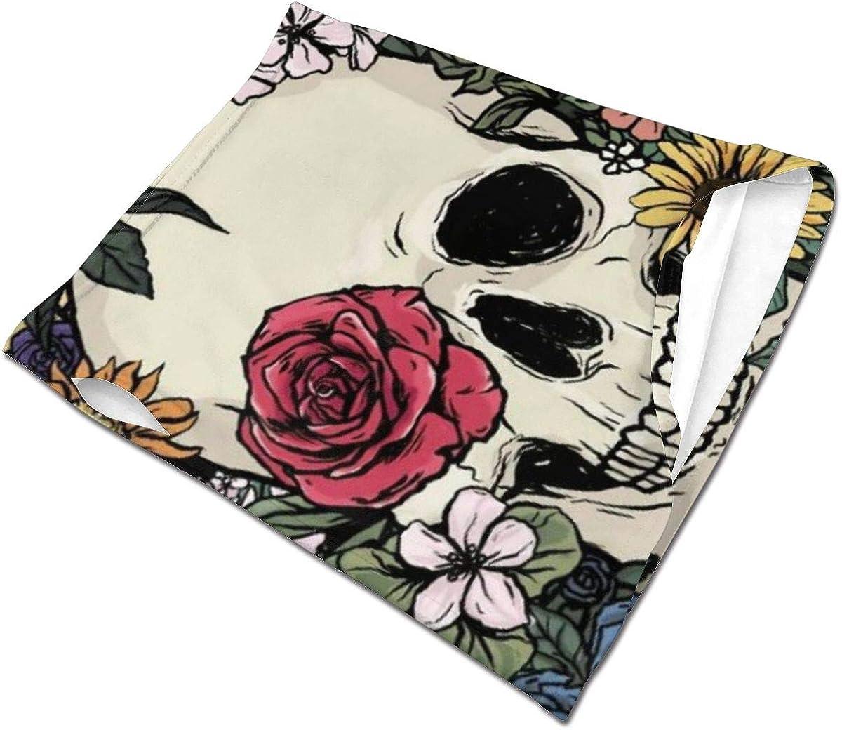 Sunflower Red Dance Skull Bone Skeleton Novelty Windbreak Face Mask Scarf Bandana Ear Loops Face Balaclava Neck Gaiters
