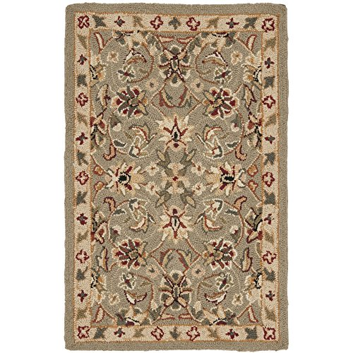 Safavieh Chelsea Collection HK78D Hand-Hooked Sage and Ivory Premium Wool Area Rug (1'8