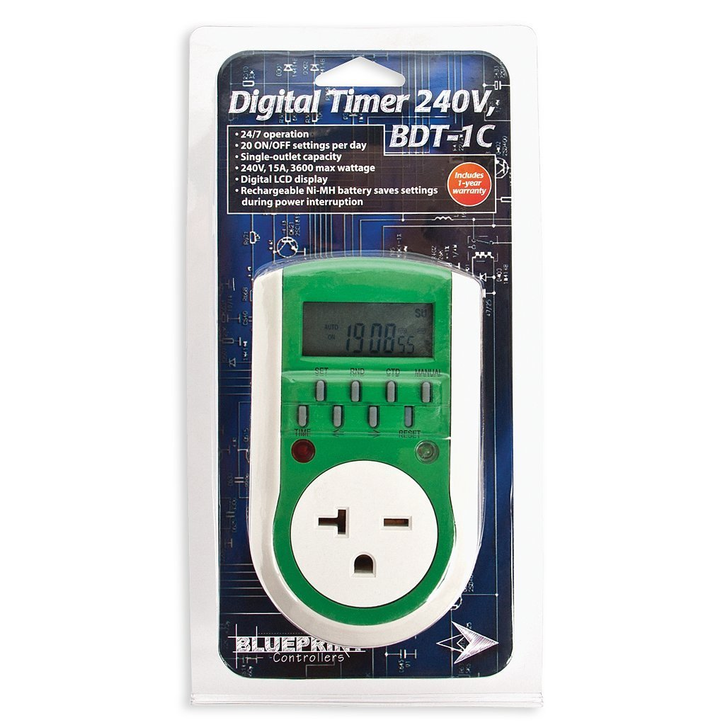 Blueprint 240v Digital Timer Bdt 1c Wall How To Put In A Outlet Switches Kitchen Dining