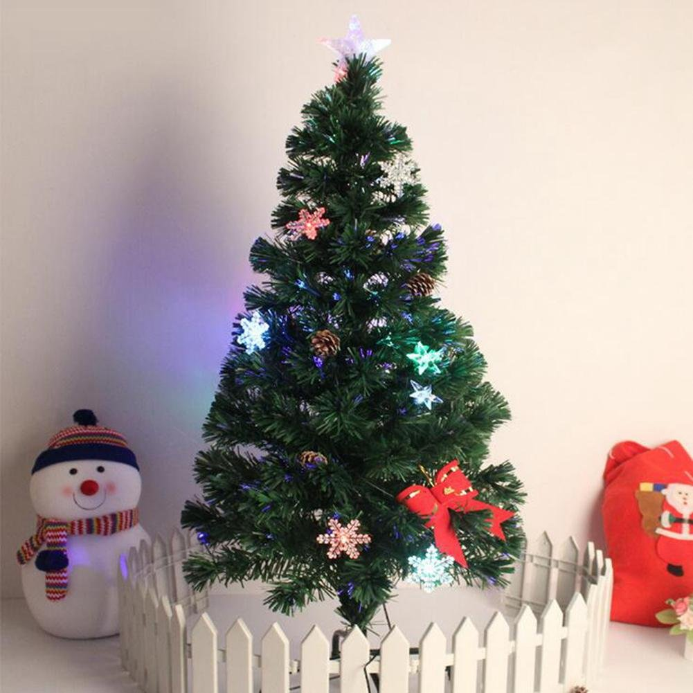 JIN Christmas Tree Fiber Tree Luxury Glow Tree Shopping School Store Christmas Decorations , 1.2m
