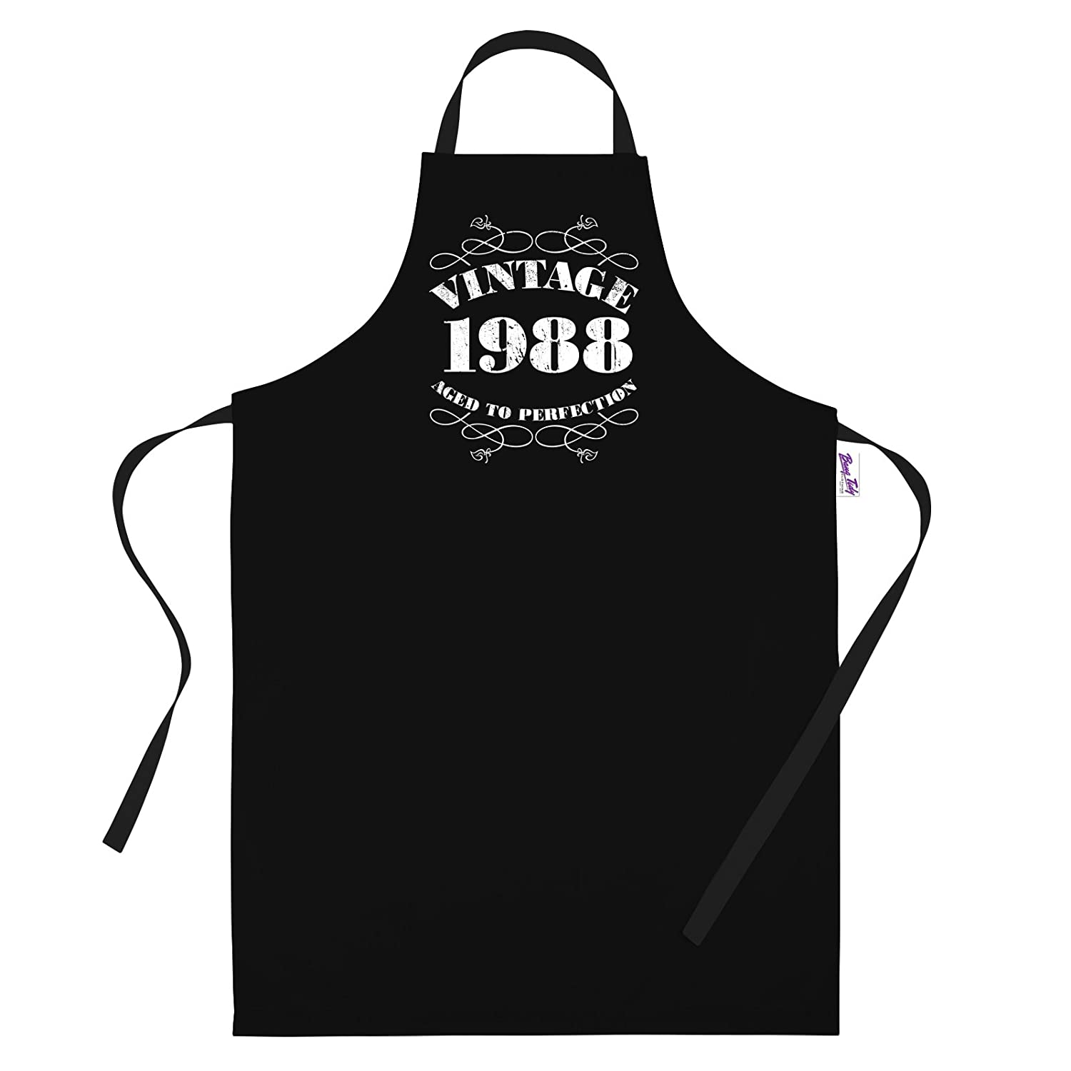Men's 30th Birthday Gift Apron Vintage 1988 Aprons 30th Birthday Gifts … BANG TIDY CLOTHING RA469P1