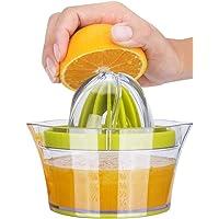 iheyfill Citroenpers 4 in 1 sinaasappelpers citruspers met houder 400 ml, handmatige sappers, limoenpers, vruchtpers…
