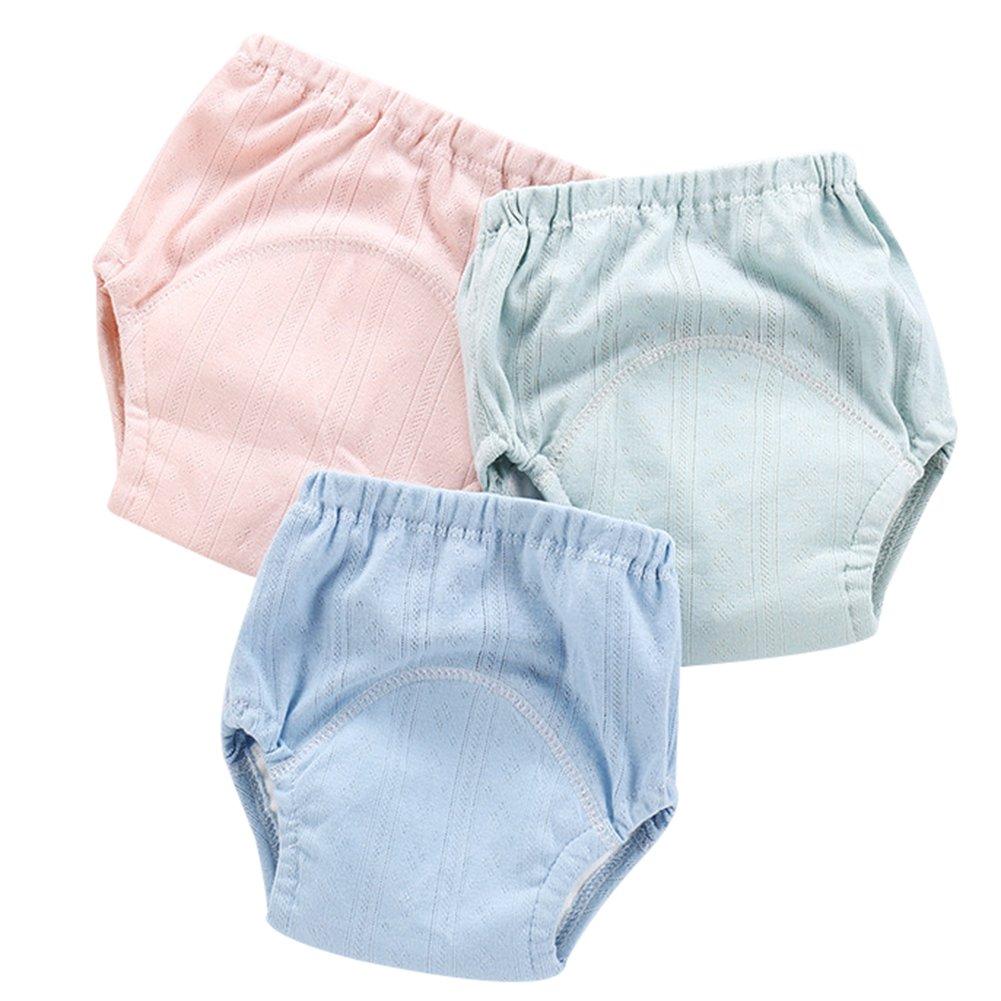 3 PCS Baby Girls Boys Learning Pants Toddlers Diaper Panties Mesh Underwear Waterproof Training Diaper Potty