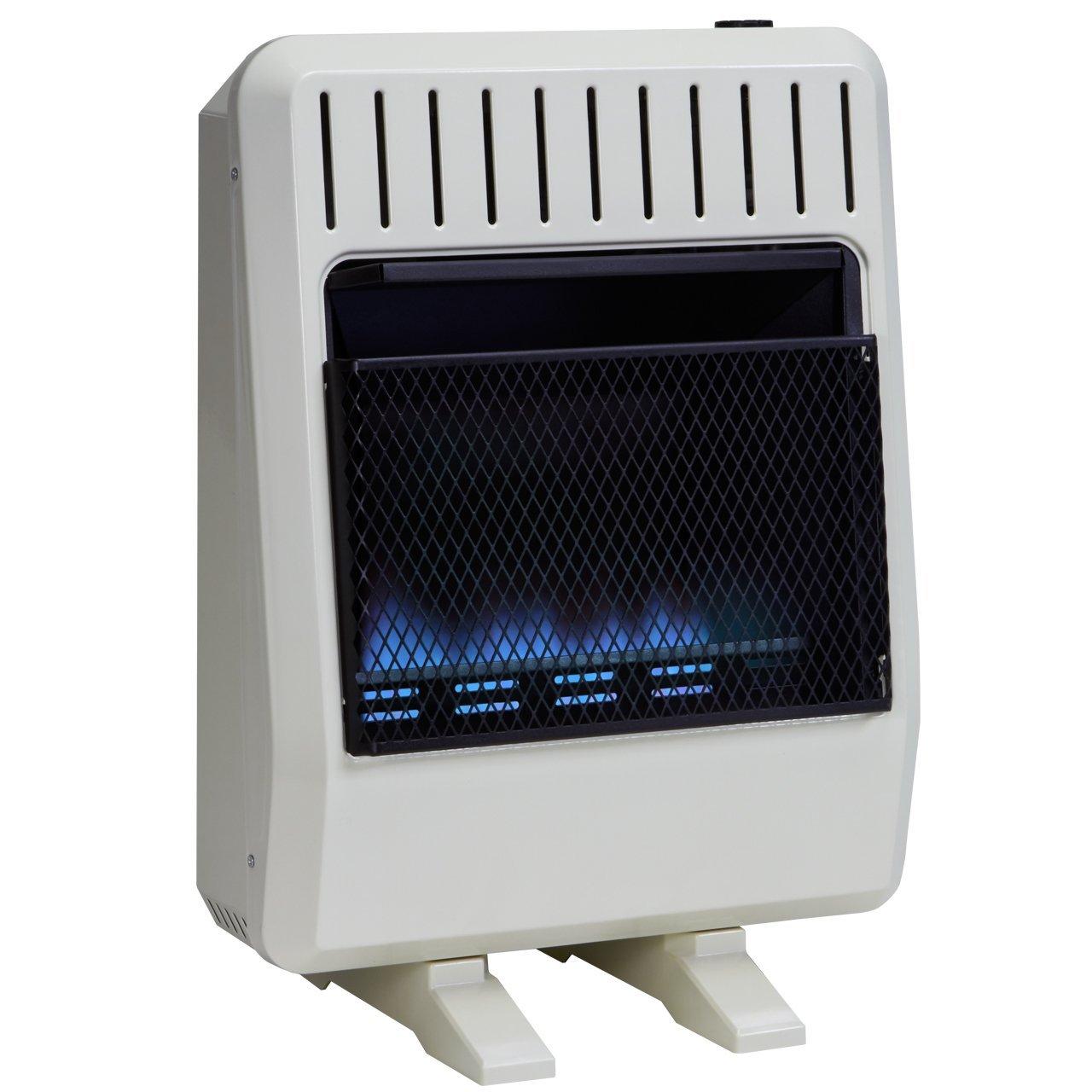 Avenger FDT20BFA Dual Fuel Ventless Blue Flame Heater, White by Avenger