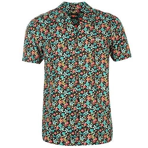 b246df799a14f 60% de descuento Pierre Cardin Hombre Floral Camisa Mangas Cortas Boton  Cierre Casual Ropa Vestir