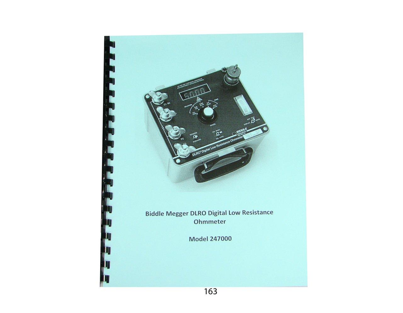 Biddle DLRO 247000 Digital Low Resistance Ohmmeter Manual