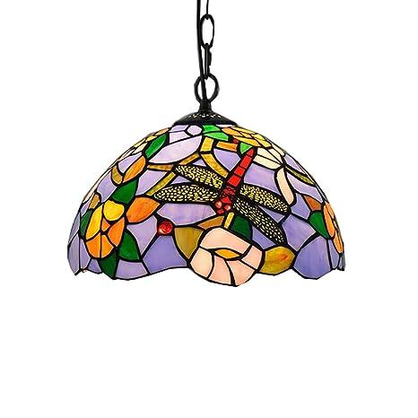 HHRONG Luz de techoEstilo de Tiffany lámpara de Techo de la ...